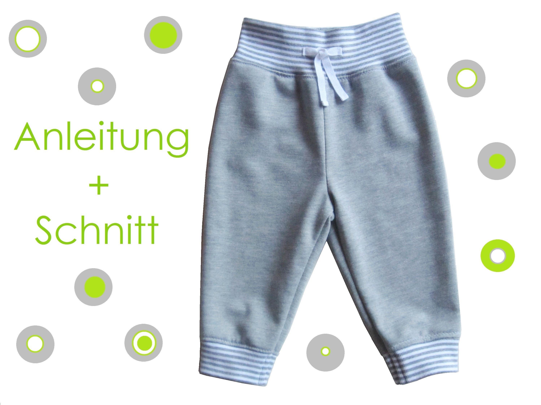 Schnitt und Anleitung Jogginghose Babys Kleinkinder 56-104 - Lunicum