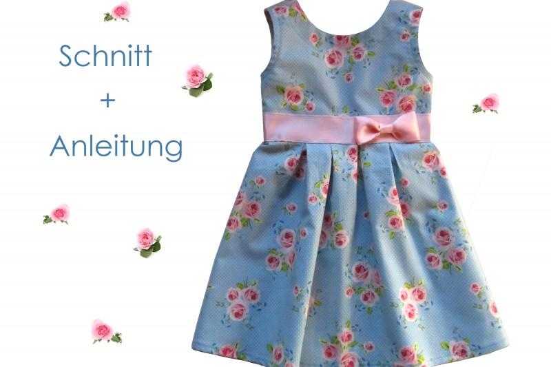 Schnittmuster und Anleitung Kleid Lilly Größe 92-128 - Lunicum