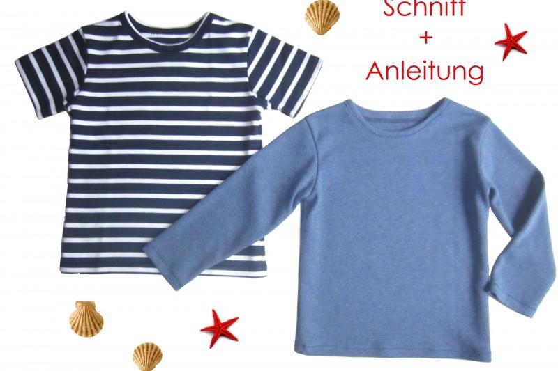 Schnitt und Nähanleitung Kinder T-Shirt Langarm und Kurzarm