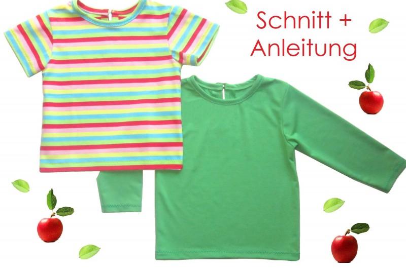 Schnitt und Nähanleitung Baby T-Shirt Langarm und Kurzarm