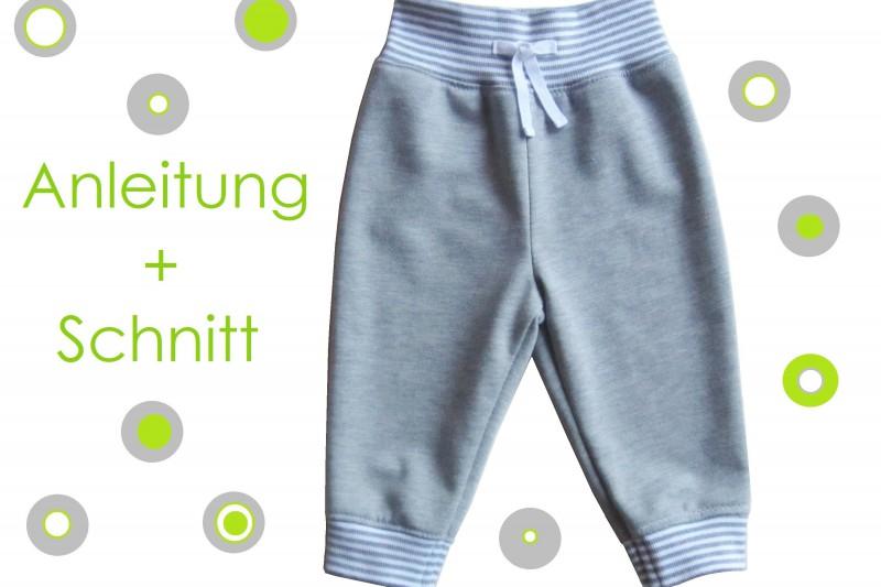 Schnitt und Nähanleitung Baby Jogginghose