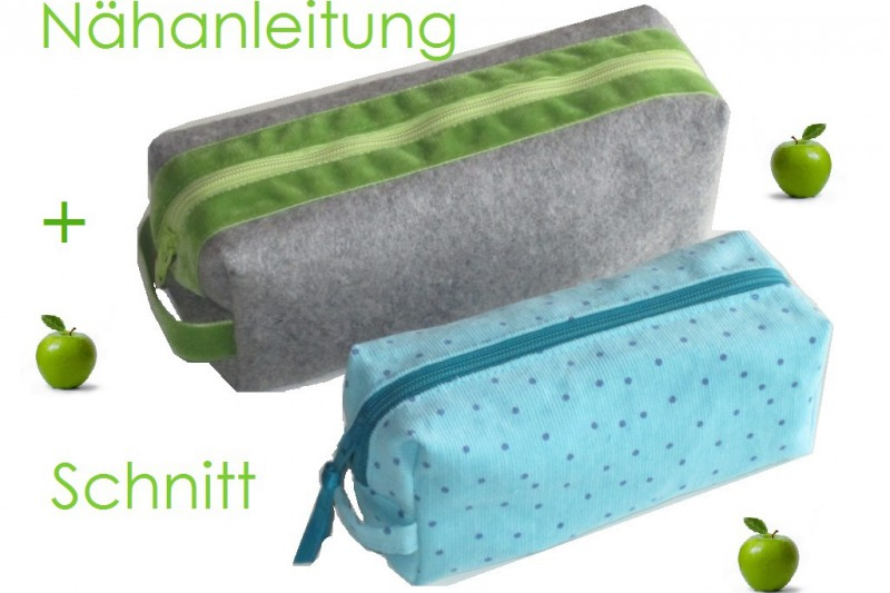 Schnitt und Anleitung Schlampermäppchen Schminktasche