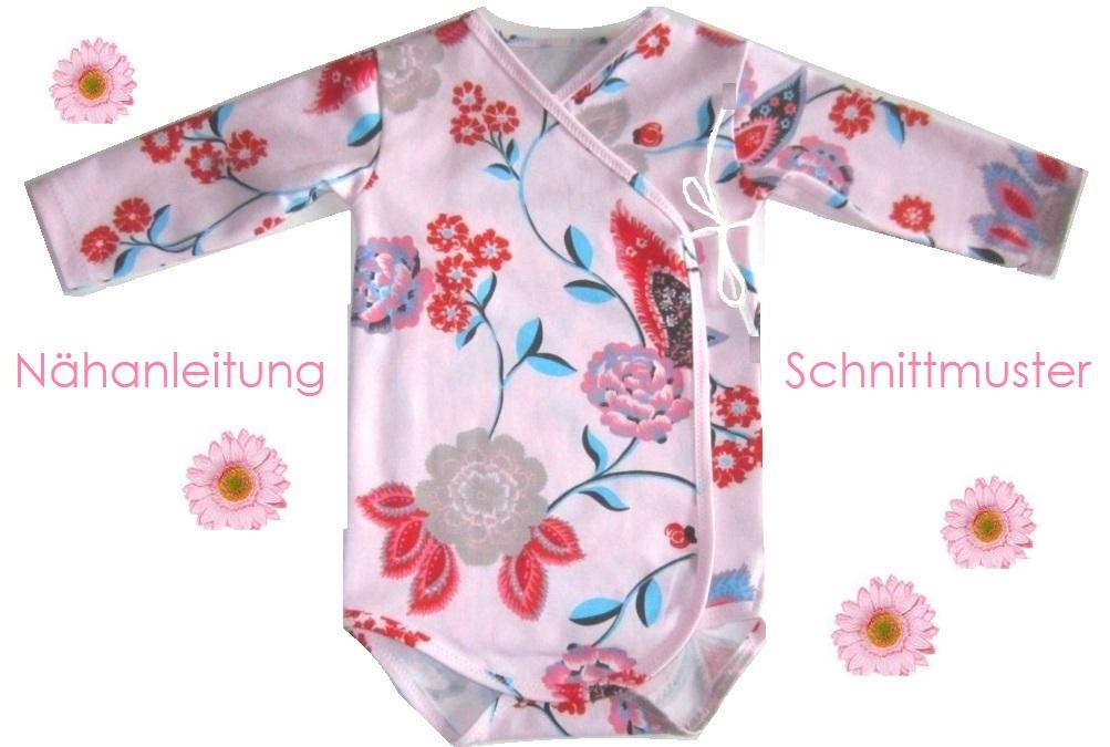 Schnittmuster und Anleitung Baby-Wickelbody für Größe 56-74 - Lunicum