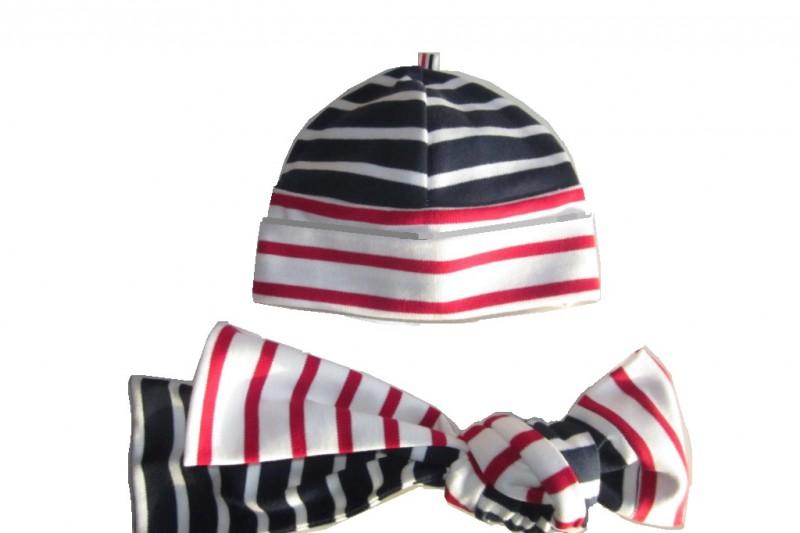 Umschlagmütze mit passendem Schal nähen