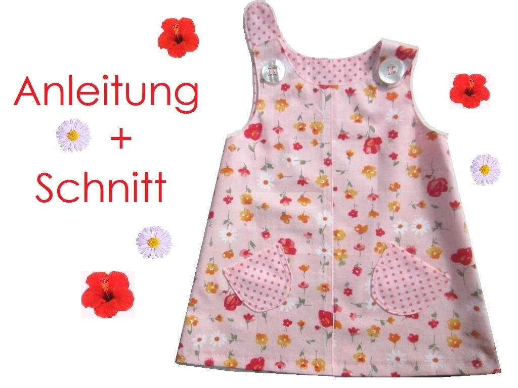 Schnitt und Anleitung Hänge-Kleid für Mädchen Gr.74-104 - Lunicum