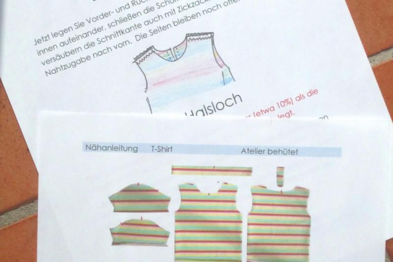 Nähanleitung Baby T-Shirt Auszug