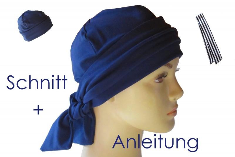 Mütze mit Band Schnitt und Anleitung