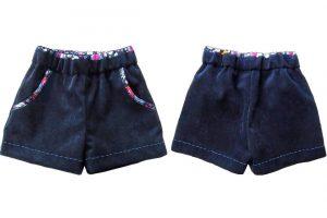 Shorts mit Deko Besatzstoff